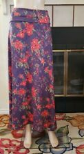 NWT Slinky Stretch Lularoe Size S Purple & Red Floral Maxi Skirt NEW Yoga Waist