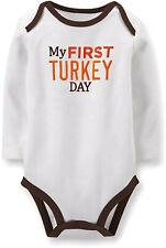 Carter's Unisex Baby Thanksgiving Bodysuit My First Turkey Day White 100% Cotton