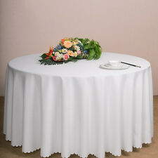 Plastic Table Cloth Round Cover For Wedding Birthday Party Tablecovers New White