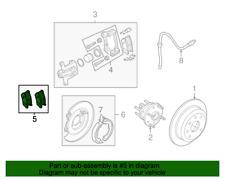 NB888 REAR Bonded Parking Brake Shoe Fits 04-08 Suzuki Forenza