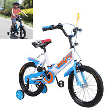 16 pulgadas Bicicleta Infantil Niños Bike Bicycle Azul w/Estabilizador & Espejo