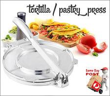 HEALTH FOOD PASTRY PRESS MOULD TORTILLA FLAT BREAD TACO ROTI CHAPATI MAKER 165mm
