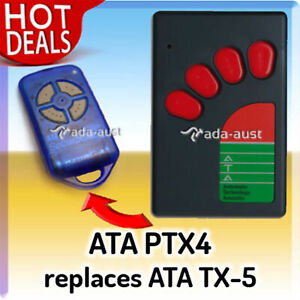 GENUINE ATA TX5 REPLACEMENT REMOTE ATA PTX4 BLUE (ALSO IN PINK AND BLUE RED)