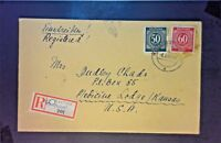 Germany 1948 Registered Cover to USA - Z1251