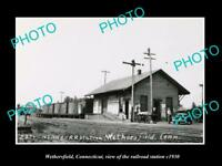 OLD LARGE HISTORIC PHOTO WETHERSFIELD CONNECTICUT THE RAILROAD STATION c1930