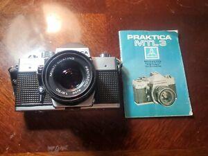 Praktica MTL 3 Film Camera Pentacon 50mm f/1.8 Lens Germany with Manual
