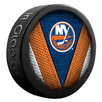 New York Islanders NHL Team Logo Stitch Souvenir Hockey Puck