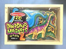 MELISSA & DOUG 20 WOODEN DINOSAUR MAGNETS IN A BOX - BRAND NEW