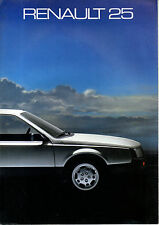 Catalogue publicitaire gamme RENAULT 25 R25 V6 INJECTION