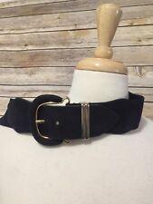 Worthington Genuin Pigskin Stretch Belt w Gold Metal Buckle Size Medium Large