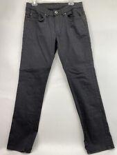 Buffalo David Bitton Mens 30/32 Black Six-X Jeans Slim Fit Straight Stretch EUC