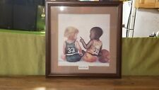 "Kenneth Gatewood's Larry Bird & Magic Johnson ""Let's Play"" Framed Print - MINT"