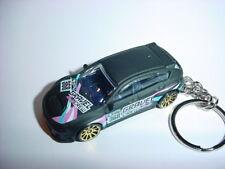 NEW 3D FLAT BLACK SUBARU WRX STI CUSTOM KEYCHAIN keyring key RACING BLING!
