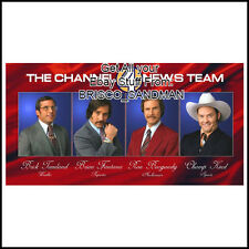 "Fridge Fun Refrigerator Magnet ANCHORMAN RON BURGUNDY ""TEAM 4"" V: B Will Ferrell"