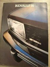 Renault 20 Brochure