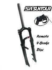 """SR Suntour XCR 26er 1-1/8"""" 100mm Suspension Fork Remote Lockout Disc V-Brake XC"""