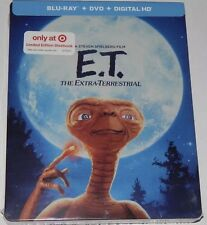 E.T. THE EXTRA-TERRESTRIAL(BLU-RAY+DVD+DIGITAL HD)LIMITED EDITION STEELBOOK NEW