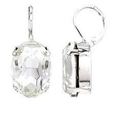 Markenloser ovaler Mode-Ohrschmuck aus Glas