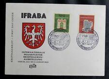 TIMBRES D'ALLEMAGNE : RFA 1953 YVERT N° 57 + 58 IFRABA Oblitération 1er JOUR TBE