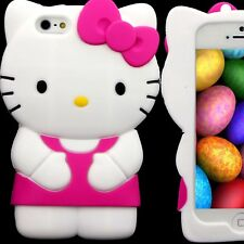 Case for Apple iPhone 5 S 5S SE Hello Kitty Skin Gel Silicone Rubber 3D Pink