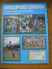 13/02/1981 Stockport County v Wimbledon  (Score Sub Noted). Item In very good co
