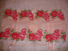 NWT VICTORIA SECRET SEXY GARTER SKIRT M THONGS PEACH PINK RED ROSES SOLD OUT