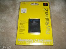 SONY PLAYSTATION 2 PS2 OFFICIAL GENUINE MEMORY CARD 8 MB Black BRAND NEW SEALED!