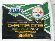 Pitsburgh Steelers Car Flag Champions 2009 Believe in Now
