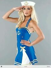 Ann Summers Sassy Sailor Girl sexy fancy dress up Hen Halloween Costume size 14