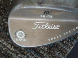 36.5 IN TITLEIST BY VOKEY DESING SPIN MILLED SM4 56 COPPER COLORED GOLF WEDGE hl
