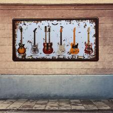 Vintage Metal Tin Sign Plaque Poster Music Rock Guitars Bar Pub KTV Wall Decor