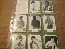 1988 Brown's Boxing 30 card Set COMPLETE,CARDS 161 thru 190