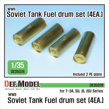 DEF Model DE35026,WWII Soviet Tank Fuel drum PE set (for 1/35 T-34, SU, JSU,1:35