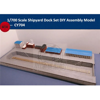 1/700 TMW Dry Dock & Shipyard Buildings Diorama Laser Cut Wood Kit