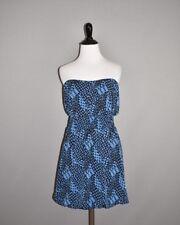 BANANA REPUBLIC NEW $129 Blue Geo Print Strapless Bubble Dress Small