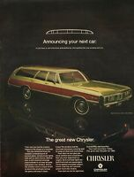 1968 Chrysler 1969 Town & Country Station Wagon vintage photo Print Ad (ADL11)