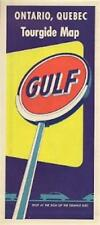 1954 GULF OIL COMPANY Road Map ONTARIO QUEBEC Montreal Canada Lake Superior