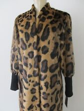 4d79e307d6cae  299 WENDY WILLIAMS LEOPARD FAUX RUR LONG SLEEVE DUFFLE COAT SIZE 1 X - NWT