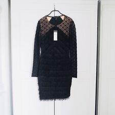 BNWT BCBG Fringe Dress With Long Sleeves, Sz XXS
