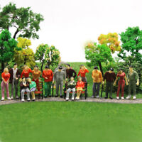 25pcs Model Trains 1:48 O Scale Painted Figures Standing Seated People P43