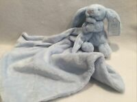 Jellycat Light Blue Bunny Rabbit Soother Security Blanket Lovey New