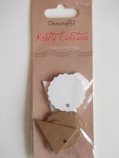 DOVECRAFT KRAFTY CHRISTMAS - 8 CHIPBOARD TAGS
