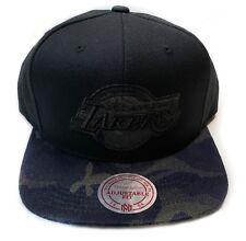 Los Angeles Lakers Mitchell & Ness Black Camo HWC Logo Snapback Hat Cap NBA