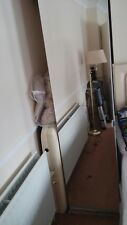 Ikea PAX Single White Wardrobe with Mirrored doors with 2 hanging rails