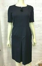 Oscar de la Renta Navy Wool Dress 8 US