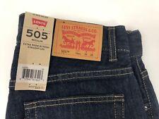 New Levi Strauss 505 Regular Straight Leg Jeans Size 16 28 x 28 Blue Cotton