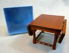 Collectable Dolls House Furniture - Wooden Drop-Leaf Dining Table #1 - BNIB