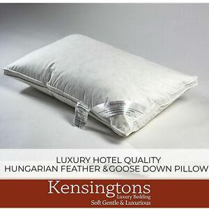 Kensingtons® Hungarian Goose Down Pillows Egyptian Cotton Cover 1000g Fill Power