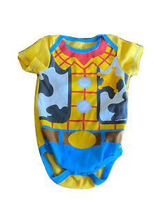 DISNEY STORE TOY STORY Woody Cowboy One-Piece Bodysuit  3-6 months