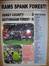 Derby County 5 Nottingham Forest 0 - 2014 - souvenir print